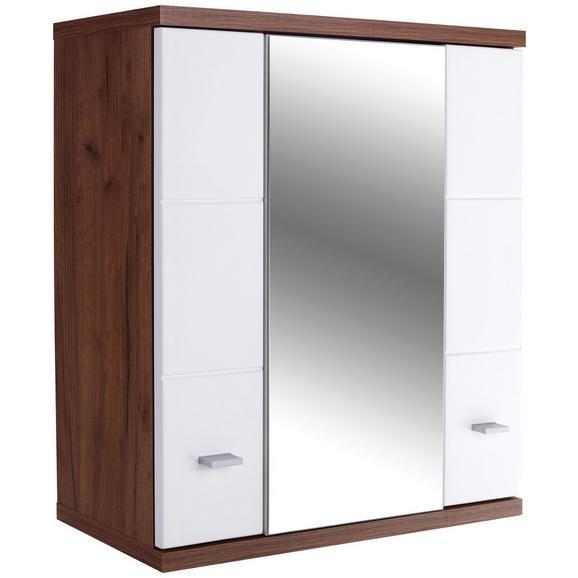 Dulap Cu Oglindă Bari - alb, Konventionell (70/70/25cm)