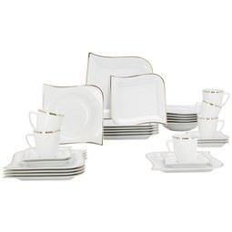 Kombinirani Servis Goldline - zlata/bela, keramika (36/33/28,5cm) - Premium Living