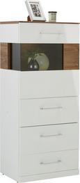 Kommode Weiß/Akazie - Weiß, MODERN, Holz (60/137/40cm) - Premium Living