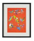 Bild Birdy I ca.46x56x3cm - Multicolor/Schwarz, MODERN, Glas/Holz (46/56/3cm) - Mömax modern living