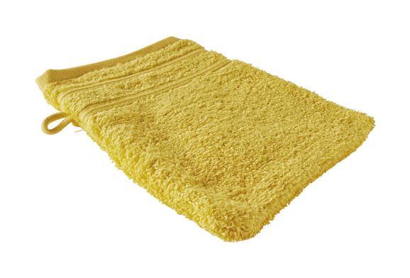 Waschhandschuh Melanie in Gelb - Gelb, Textil (16/21cm)