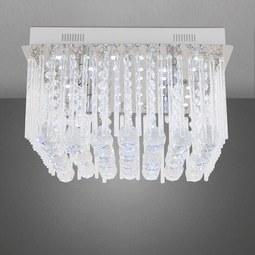 LED-Deckenleuchte Yara - Chromfarben/Klar, MODERN, Glas/Metall (40/40/22cm) - MÖMAX modern living