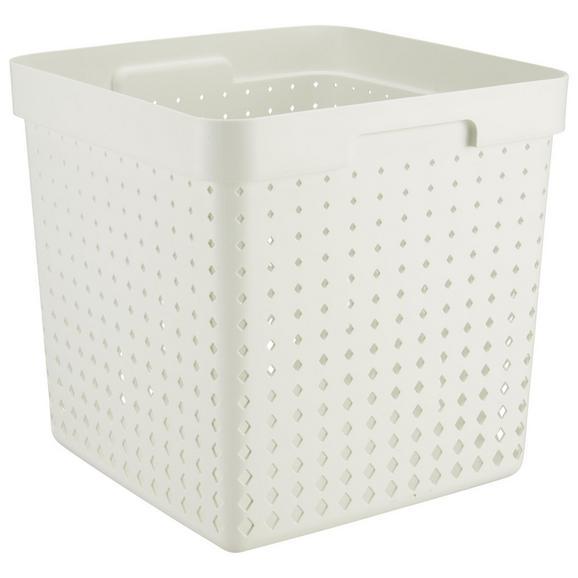 Korb Seoul aus Kunststoff in Weiß - Weiß, KONVENTIONELL, Kunststoff (29,6/29,6/29,6cm)