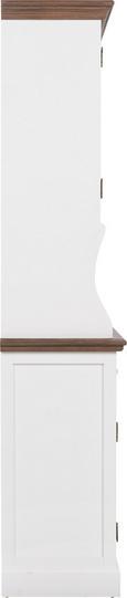 Kredenz Cookie - Weiß/Kieferfarben, Glas/Holz (132/191/40,5cm) - Premium Living