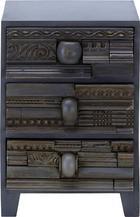 Komód Art Deco  -studio- - Antracit, Lifestyle, Fa (40/57/43cm)