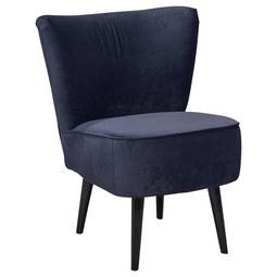 Sessel in Blau 'Lord' - Blau/Schwarz, Trend, Holz/Holzwerkstoff (65/89/70cm) - Carryhome