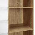 KOMMODE Enny - Weiß/Pinienfarben, MODERN, Holz/Metall (80/124/35cm) - Bessagi Home
