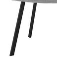 Stuhl Mario - Hellgrau/Schwarz, MODERN, Holz/Textil (39/88/59,5cm) - Modern Living