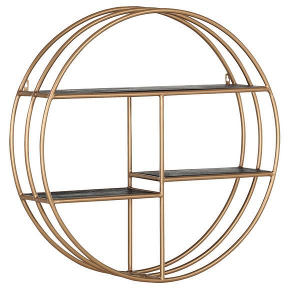 Wandregal in Goldfarben - Goldfarben, Design, Holz/Metall (90/90/24cm) - Premium Living