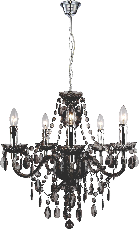 Függőlámpa Isabella - krómszínű/szürkésbarna, romantikus/Landhaus, műanyag/fém (149cm) - MÖMAX modern living