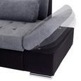Canapea Modulară Santa Cruz - culoare stejar argintiu/grafit, Modern, plastic (190/300cm) - Ombra