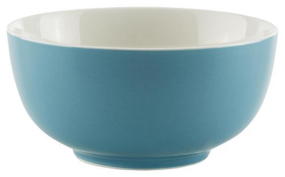 Müslischale Sandy Blau aus Keramik - Blau, KONVENTIONELL, Keramik (13,7/6,6cm) - Mömax modern living