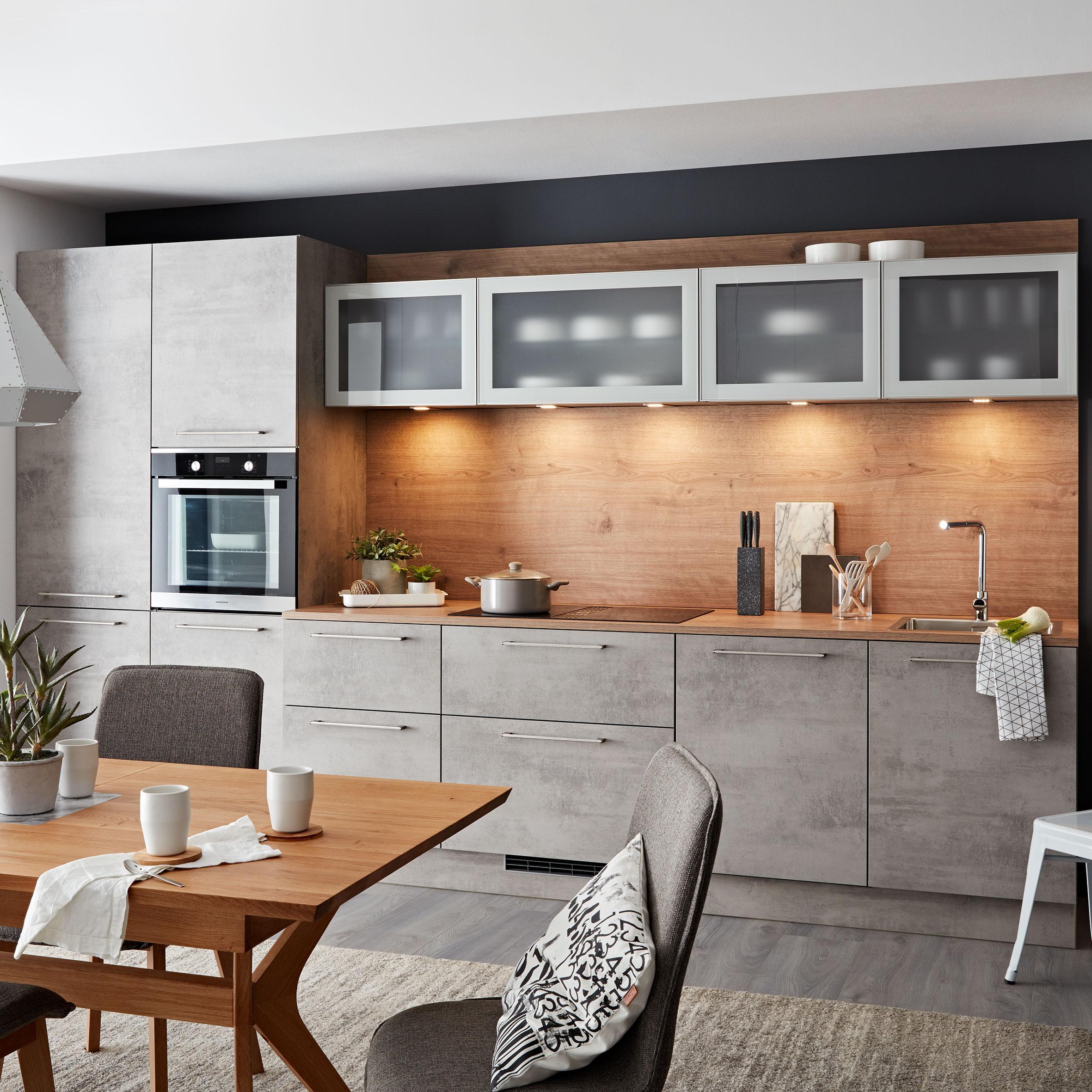 Küchenblock Nolte Stone Hellgrau   Hellgrau (380cm)   Nolte Küchen