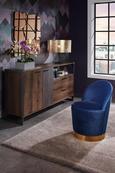 Wandspiegel 80x80cm - Goldfarben/Rosa, Glas/Holzwerkstoff (80/80/3cm) - Modern Living