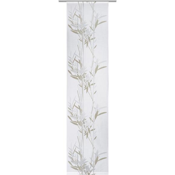 Flächenvorhang Gräser, ca. 60x245cm - Weiß, MODERN, Textil (60/245cm) - Mömax modern living
