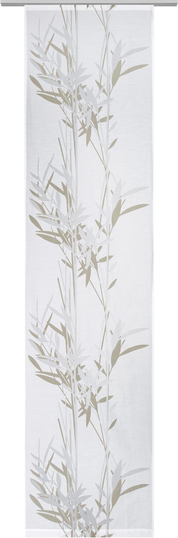 Lapfüggöny Fehér/barnásszürke Színű - Fehér, modern, Textil (60/245cm) - Mömax modern living