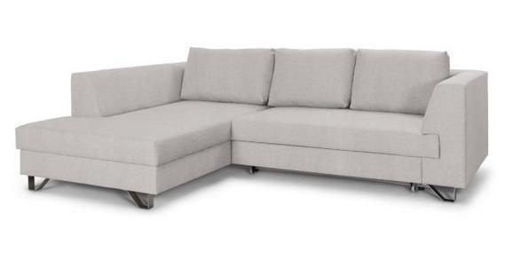 Sedežna Garnitura Mohito - bež/srebrna, Moderno, kovina/tekstil (196/280cm) - Premium Living