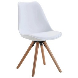 Stuhl in Weiß teilmassiv - Eichefarben/Weiß, MODERN, Holz/Kunststoff (48/81/57cm) - Modern Living