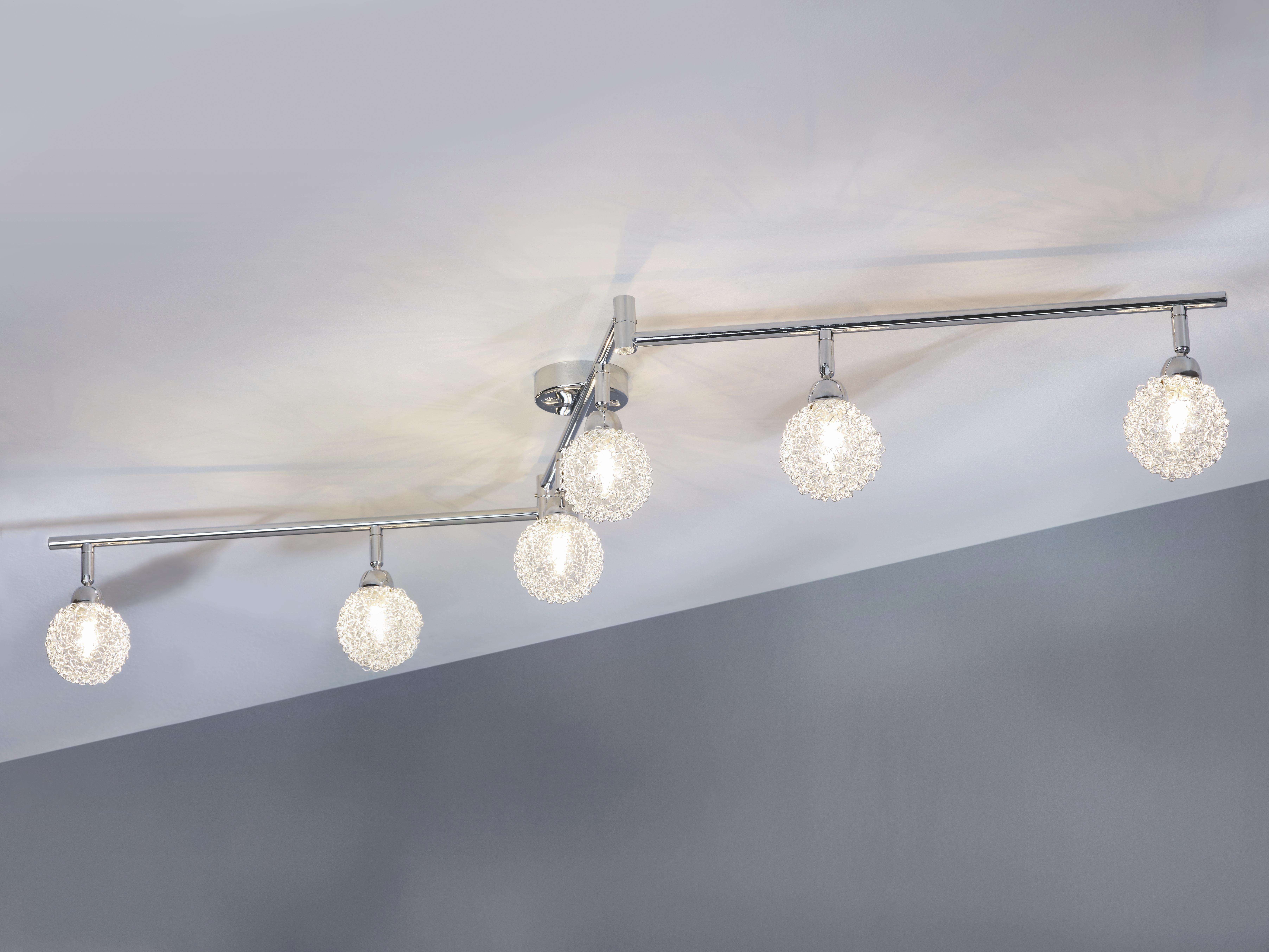 Spotlámpa Mia - krómszínű, modern, üveg/fém (145/19cm) - MÖMAX modern living
