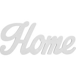Dekor Betűk Home - Fehér, modern, Faalapú anyag (56/24/1,2cm) - Mömax modern living