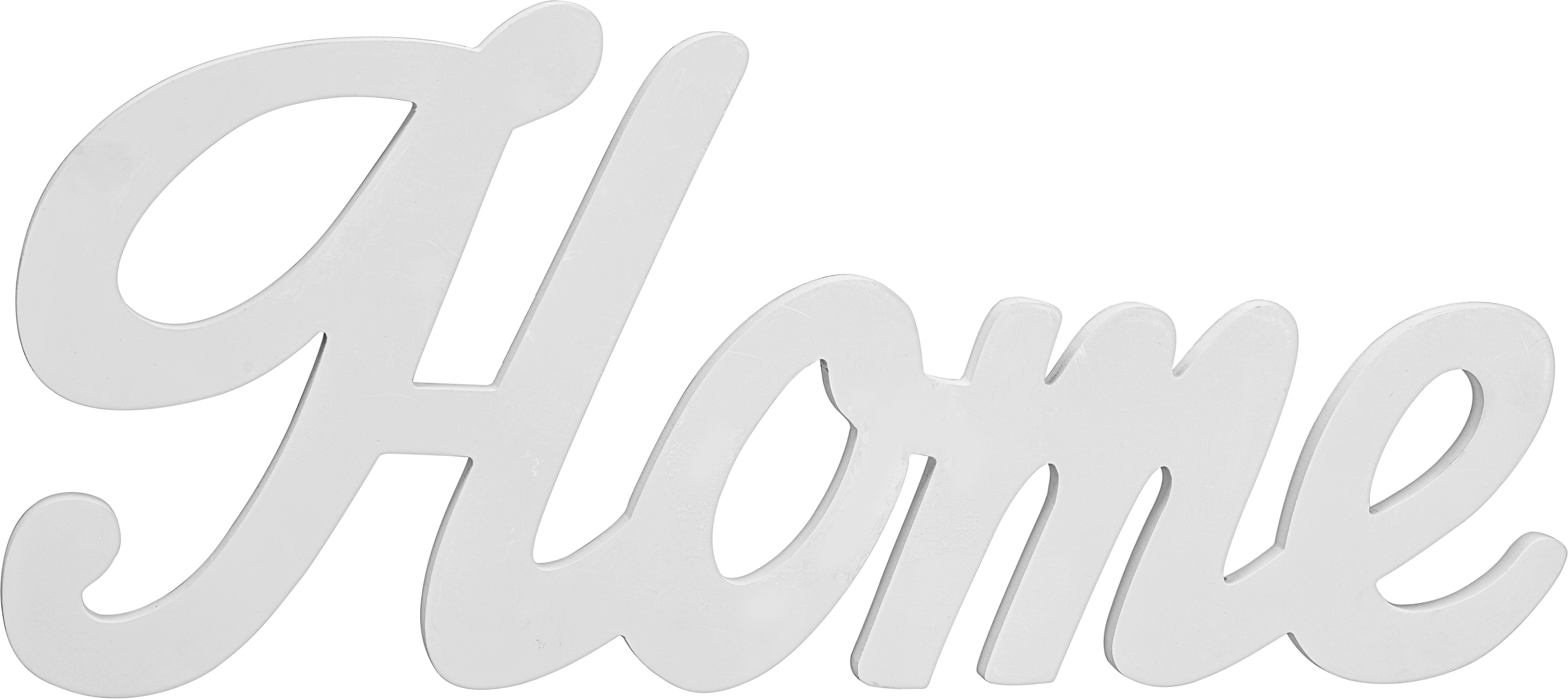 Dekor Betűk Home - fehér, modern, faanyagok (56/24/1,2cm) - MÖMAX modern living