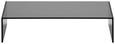 TV-Aufsatz in Schwarz aus Glas - Dunkelgrau, Glas (60/14/30cm) - Mömax modern living