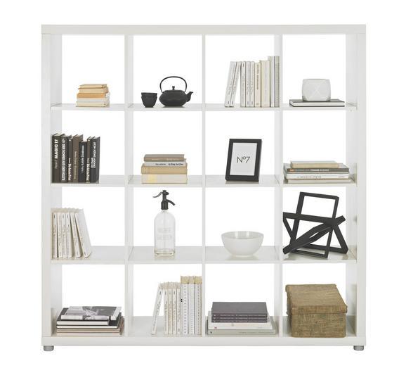 Raumteiler Weiß Lackiert - Alufarben/Weiß, Basics, Holzwerkstoff/Kunststoff (154/157/35cm) - Mömax modern living