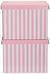 Box mit Deckel Jimmy Rosa/Weiß - Rosa/Weiß, Karton (42/32/32cm) - Mömax modern living