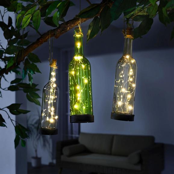 Solarna Svetilka Bottle - črna, umetna masa/steklo (7,8/30,5cm) - Mömax modern living