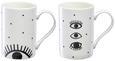 Kaffeebecher Eyes in verschiedenen Designs - Schwarz/Weiß, Keramik (8,9/8,6cm) - Mömax modern living