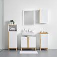 Spiegel Weiß/Holz 'Rico' - Weiß, MODERN, Glas/Holz (58/78/1,5cm) - Bessagi Home