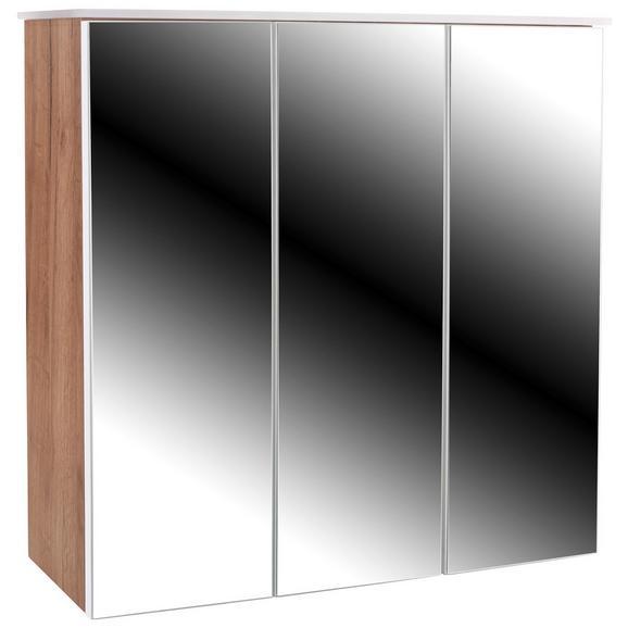 Omarica Z Ogledalom Avensis 312 - bela/hrast, Moderno, steklo/leseni material (75/73/20,5cm) - Mömax modern living