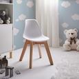 Kinderstuhl Julie - Buchefarben/Weiß, MODERN, Holz/Kunststoff (30,5/56,5/39,5cm) - Bessagi Kids