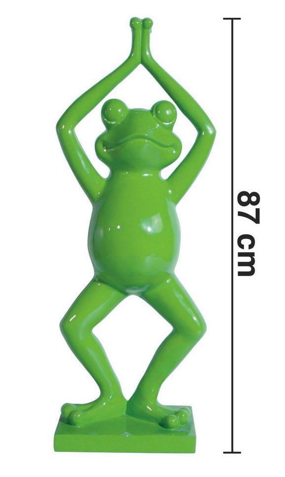 Dekofrosch Frog - Grün, LIFESTYLE, Kunststoff (20/34/87cm) - premium living