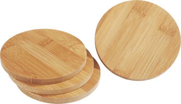 Untersetzerset Gabriel aus Bambus - Hellbraun, Holz (11/3.8cm)