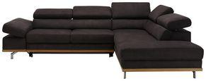 Funkcijka Sedežna Garnitura Carmen - temno siva/siva, Konvencionalno, kovina/tekstil (292/226cm) - Zandiara