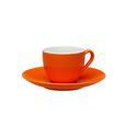 Espressotasse mit Untertasse Sandy aus Keramik ca. 90ml - Orange, KONVENTIONELL, Keramik (6,4/5cm) - Mömax modern living