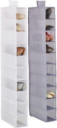 Hängeorganizer in Weiß mit 10 Fächern - Weiß, Textil (15/125cm) - Mömax modern living