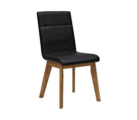 STUHL Schwarz/Eiche - Eichefarben/Schwarz, MODERN, Holz/Textil (45/91/58,5cm) - Premium Living
