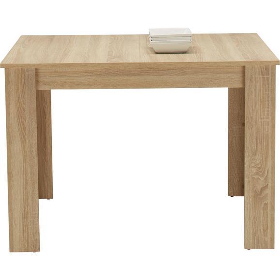 Kihúzható Asztal In Eichefarben - Tölgyfa, Faalapú anyag (110-164/76/70cm) - Based