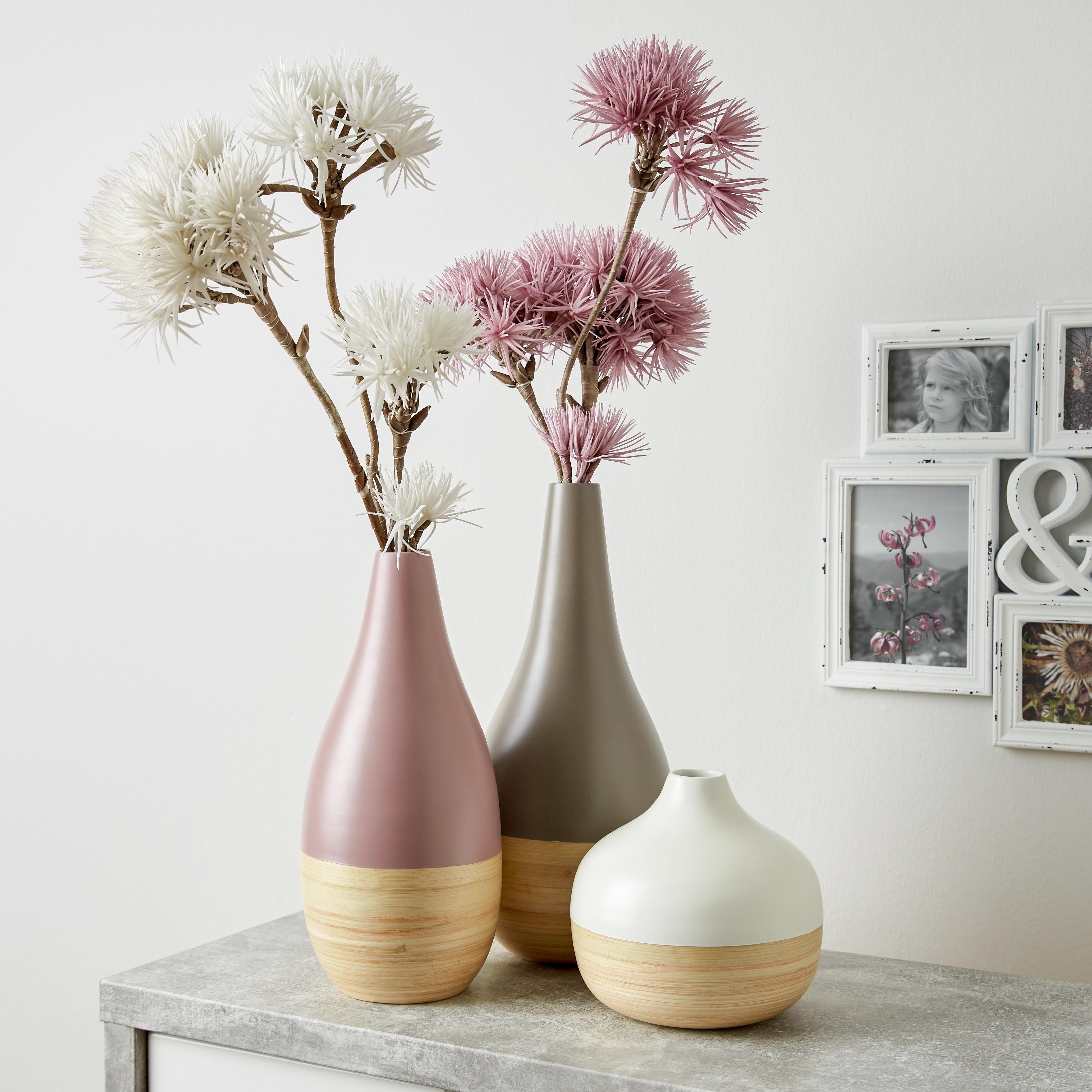 Váza Naturelle - natúr színek/fehér, fa (18/17cm) - MÖMAX modern living