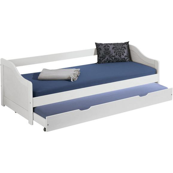 Otroška postelja 90x200 cm DOUBLE - bela, les (209/66/97cm) - Zandiara