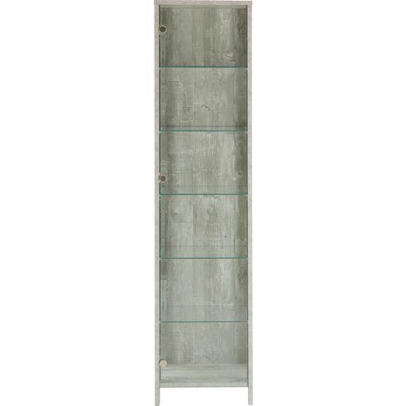 Vitrina Nova - aluminij/siva, Moderno, kovina/steklo (44/183/37cm) - Mömax modern living