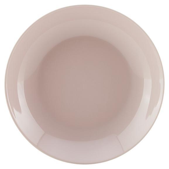 Farfurie Adâncă Sandy - roz, Konventionell, ceramică (20/3,5cm) - Modern Living