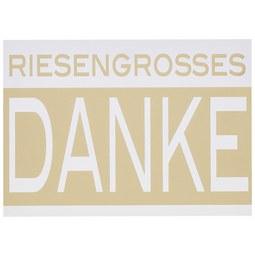Postkarte Rießengroßes Danke - Goldfarben/Weiß, Papier (14,8/10,5cm)
