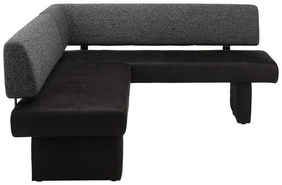Eckbank Grau/Schwarz - Schwarz/Grau, MODERN, Kunststoff/Textil (209/82/168cm) - Premium Living