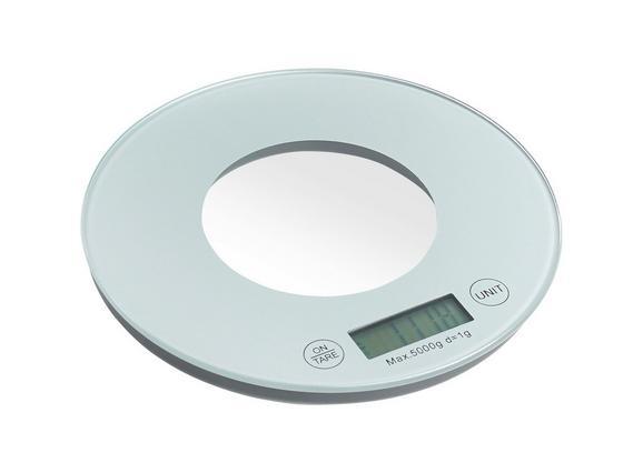 Küchenwaage Britta aus Glas - Weiß/Grau, Glas/Kunststoff (19/2/cm) - Mömax modern living