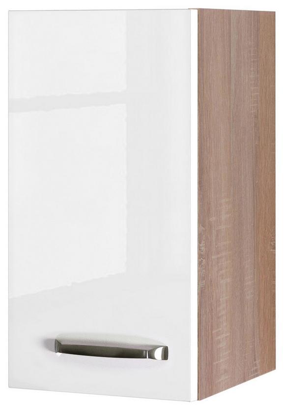 Kuhinjska Zgornja Omarica Venezia Valero - bela/hrast, Moderno, kovina/leseni material (30/54/32cm)