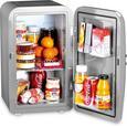 Minikühlschrank Frescolino Plus ca. 17l - Silberfarben, MODERN, Kunststoff (32/28,5/46cm)