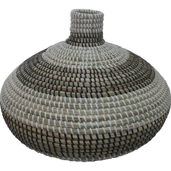 Pletena Vaza Luis - naravna/črna, umetna masa/ostali naravni materiali (38/28cm) - Mömax modern living